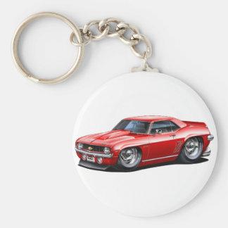 Porte-clés Voiture 1969 de rouge de Camaro solides solubles