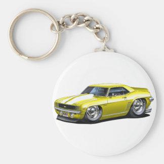 Porte-clés Voiture 1969 Jaune-Blanche de Camaro