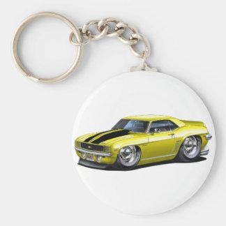 Porte-clés Voiture 1969 Jaune-Noire de Camaro