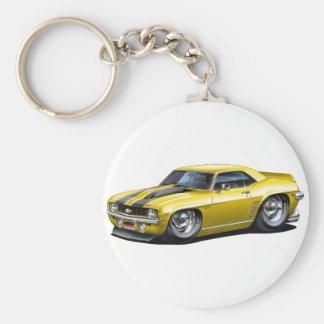 Porte-clés Voiture 1969 Jaune-Noire de Camaro solides