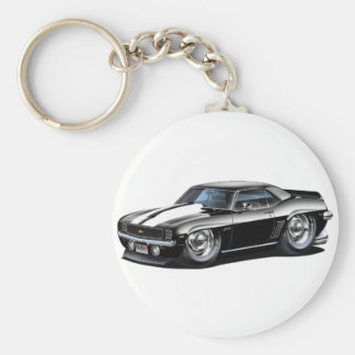 Porte-clés Voiture 1969 Noir-Blanche de Camaro