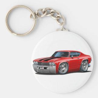 Porte-clés Voiture 1969 Rouge-Noire de Chevelle
