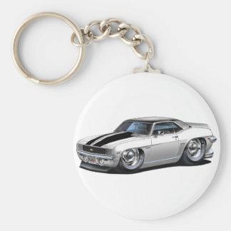 Porte-clés Voiture 1969 supérieure Blanc-Noire de Camaro