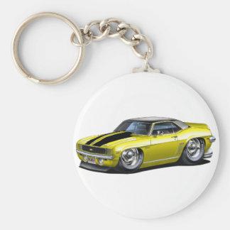 Porte-clés Voiture 1969 supérieure Jaune-Noire de Camaro