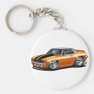 Porte-clés Voiture 1969 supérieure Orange-Noire de Camaro