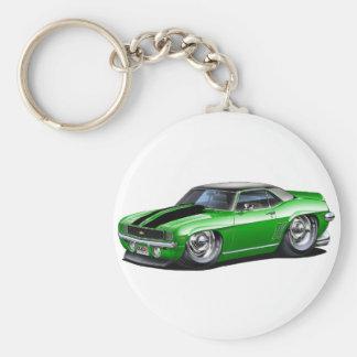 Porte-clés Voiture 1969 supérieure Vert-Noire de Camaro