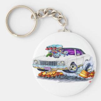Porte-clés Voiture 1972 de blanc de Monte Carlo