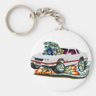 Porte-clés Voiture 1983-88 de blanc de Monte Carlo