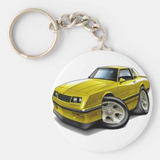 Porte-clés Voiture 1983-88 jaune de Monte Carlo