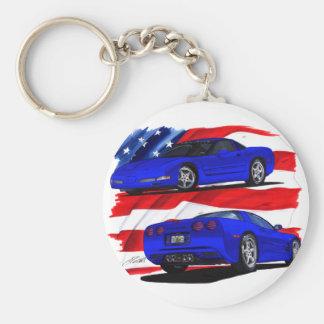 Porte-clés Voiture 1999-04 de bleu de Corvette