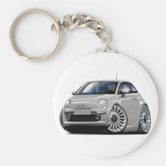 Porte-clés Voiture argentée de Fiat 500