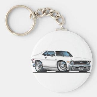 Porte-clés Voiture de blanc de nova de Chevy