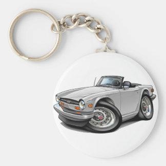 Porte-clés Voiture de blanc de Triumph TR6