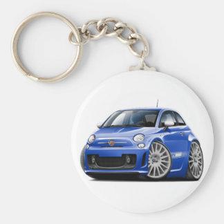 Porte-clés Voiture de bleu de Fiat 500 Abarth