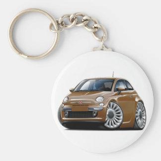 Porte-clés Voiture de Fiat 500 Brown