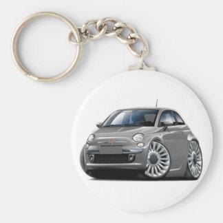 Porte-clés Voiture de gris de Fiat 500