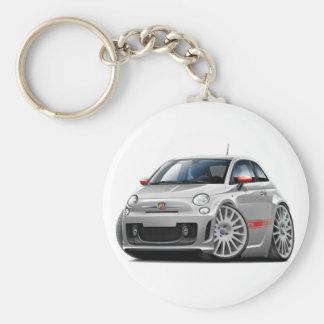 Porte-clés Voiture de gris de Fiat 500 Abarth