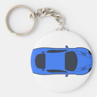 Porte-clés Voiture de sport bleu-foncé