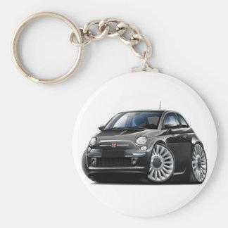 Porte-clés Voiture noire de Fiat 500