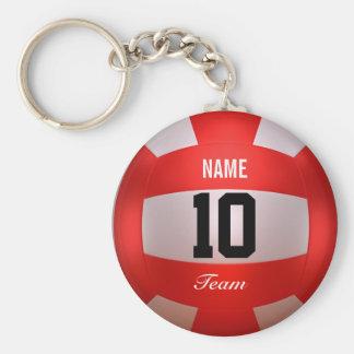 Porte-clés Volleyball rouge fait sur commande