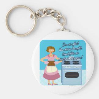 """Porte-clés Votre femme au foyer de Snarky de """"brownie"""" de"""