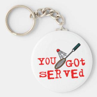 Porte-clés Vous avez obtenu le badminton servi
