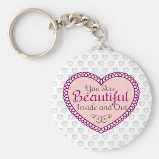 Porte-clés Vous êtes de belles citations de cadeau d'art de
