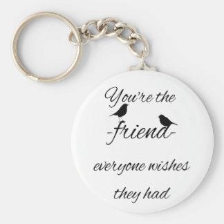 Porte-clés Vous êtes l'ami que chacun souhaite qu'ils aient