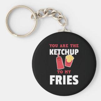Porte-clés Vous êtes le ketchup à mes couples mignons de