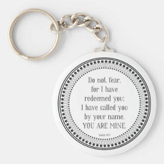 Porte-clés Vous êtes les miens, écriture sainte noire et