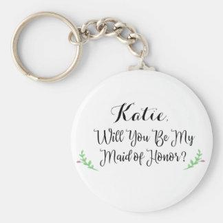 Porte-clés Vous serez ma domestique de porte - clé