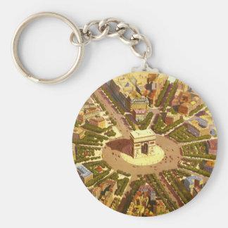Porte-clés Voyage vintage, Arc de Triomphe Paris France