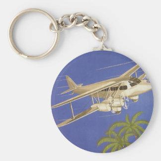 Porte-clés Voyage vintage vers le Caire, Eygpt, avion de