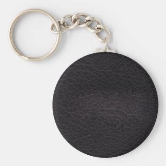 Porte-clés Vrai cuir élégant et chic élégant foncé pourpre
