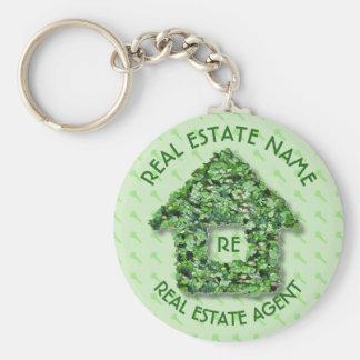 Porte-clés Vraies agence immobilière et raison sociale