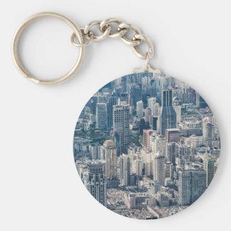 Porte-clés Vue aérienne de la Chine de ville crépusculaire de