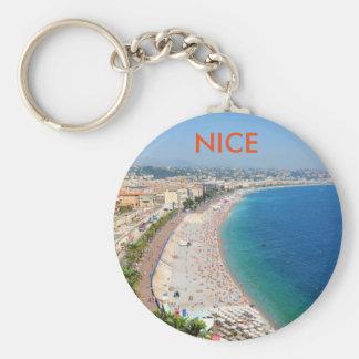 Porte-clés Vue aérienne de plage à Nice, France