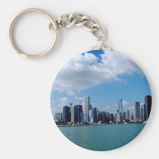 Porte-clés Vue d'horizon de Chicago de pilier de marine