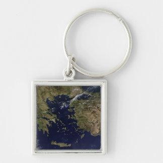 Porte-clés Vue satellite de la Grèce et de la Turquie