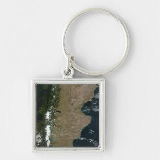Porte-clés Vue satellite de la région de Patagonia