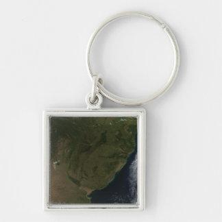 Porte-clés Vue satellite de l'Amérique du Sud