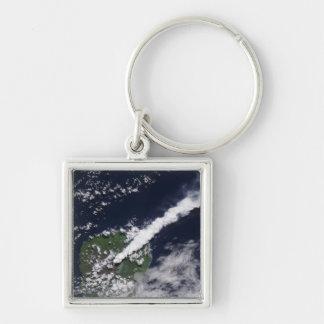 Porte-clés Vue satellite d'une plume épaisse et vapeur-riche