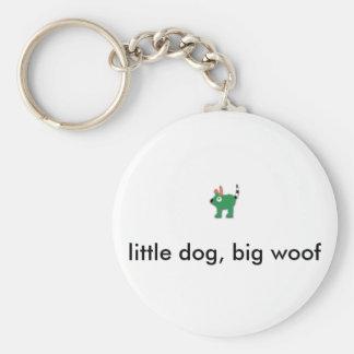 Porte-clés Woof, petit chien, grande trame