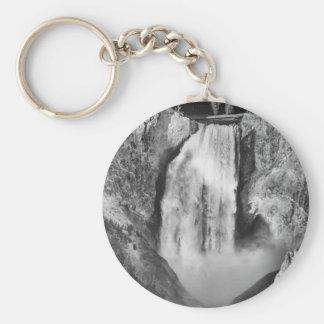 Porte-clés Yellowstone supérieur tombe en noir et blanc