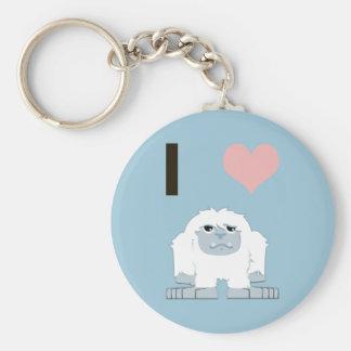 Porte-clés Yeti du coeur I