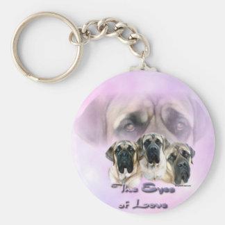 Porte-clés Yeux de mastiff de porte - clé d'amour