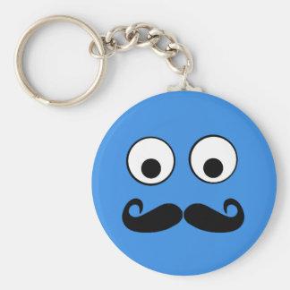 Porte-clés Yeux écarquillés avec le porte - clé de moustache