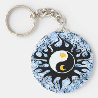 Porte-clés Yin Yang Sun et lune