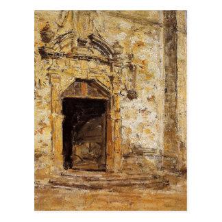 Porte de l'église de Touques par Eugene Boudin Cartes Postales