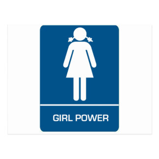 Porte de toilettes de puissance de fille cartes postales